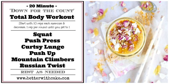 20 Minute Total Body Workout & A {Banana Free} Golden Spiced Mango Lassi - www.betterwithcake.com