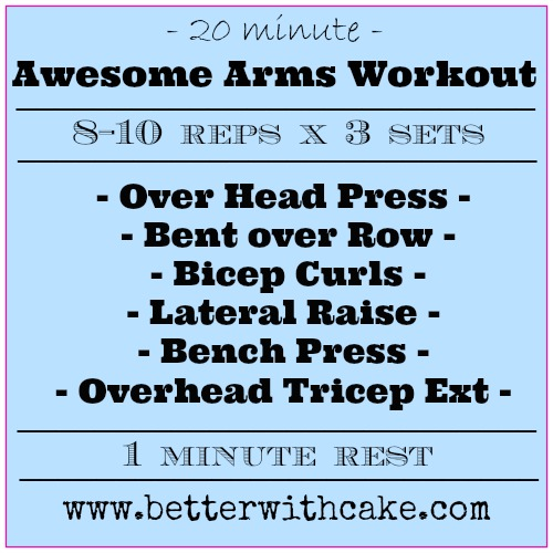 The Friday Five And A 20 Min Awesome Arms