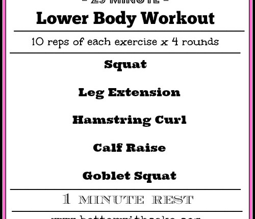 Fit Friday Fun - 25 min Lower Body Workout - www.betterwithcake.com