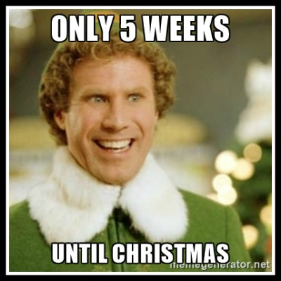 5 weeks until Christmas - Buddy the Elf - www.betterwithcake.com