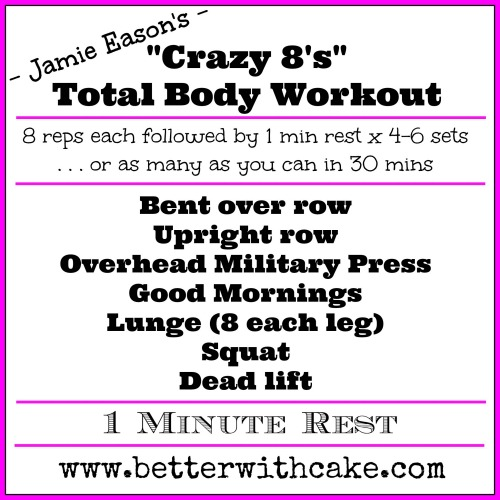 Jamie Eason's Crazy 8's Total Body Workout