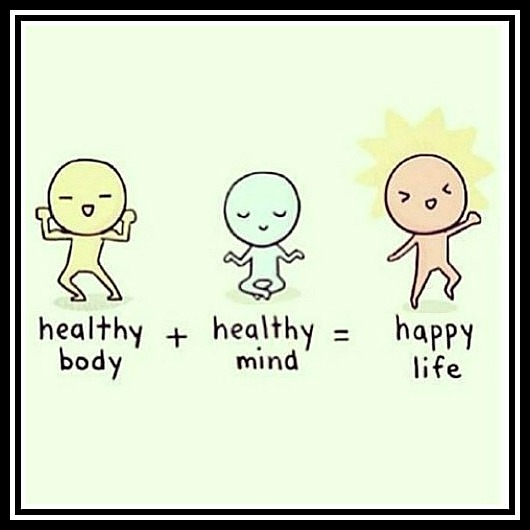 Healthy body + Healthy mind = Happy life - www.betterwithcake.com