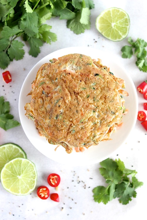 Quick and Easy Carrot and Zucchini Fritters {Gluten Free & Paleo} - www.betterwithcake.com