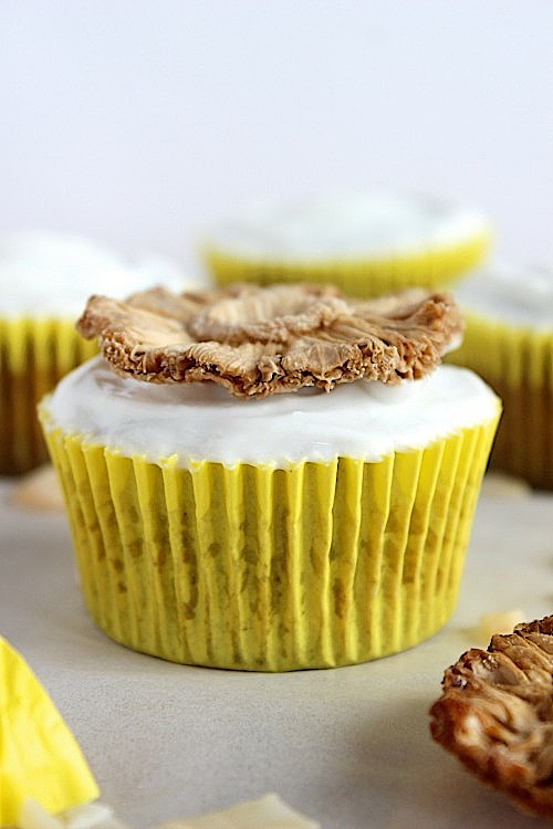 Hummingbird Muffins with Coconut Yogurt Frosting {Low Carb, Gluten Free & Paleo Friendly} - www.betterwithcake.com
