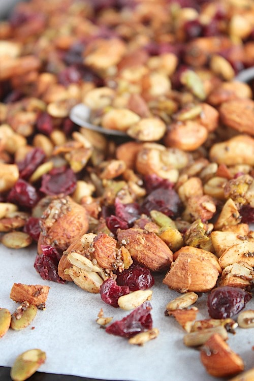 "Apple and Cranberry {Grain Free} ""Granola"" - Vegan, Gluten Free & Paleo Friendly - www.betterwithcake.com"