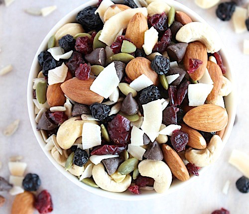 Deliciously Indulgent, Blueberry & Cranberry, Coco-Nutty Trail Mix {Vegan, Gluten Free & Paleo Friendly} - www.betterwithcake.com