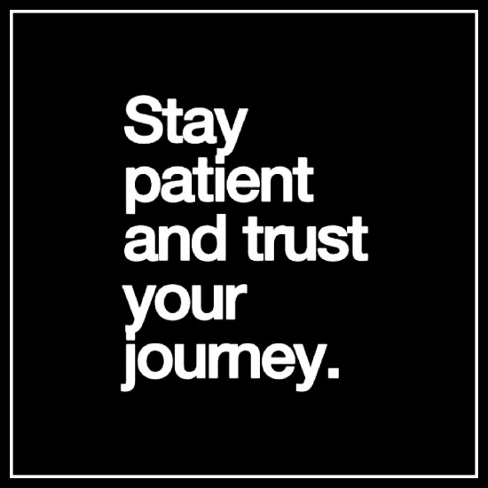 Stay patient & trust your journey - www.betterwithcake.com
