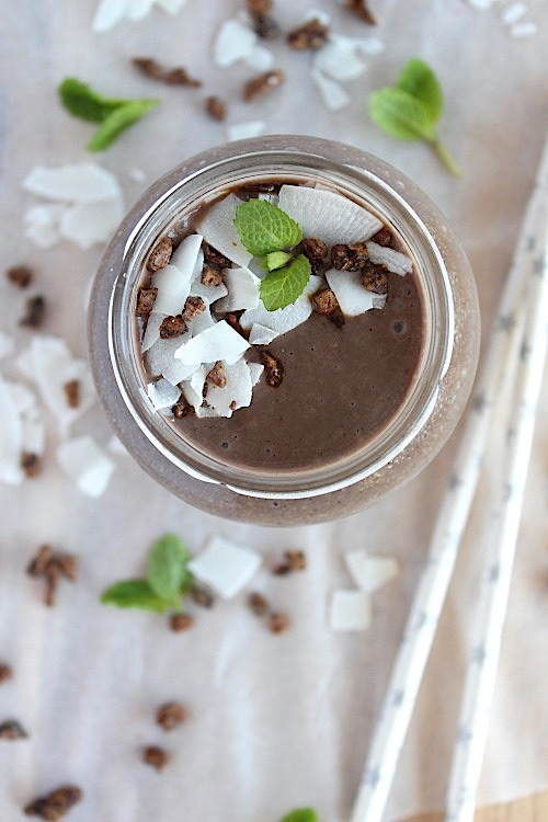 Choc-Mint Chiller {Vegan, Gluten Free & Paleo Friendly} - www.betterwithcake.com