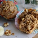 Banana and Walnut Wholewheat Muffins
