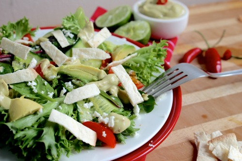 Crunchy Tortilla and Avocado Salad | Better with Cake