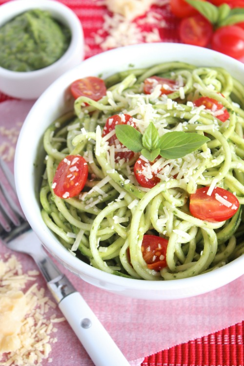Zucchini Noodles with Avocado Pesto | Homemade Mother's Day Brunches