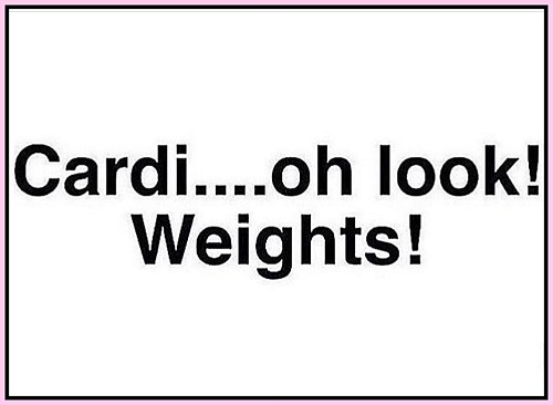 Cardi . . . oh look! Weights! - www.betterwithcake.com