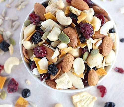 Healthy, Homemade Tropical Trail Mix {Vegan, Gluten Free & Paleo Friendly}