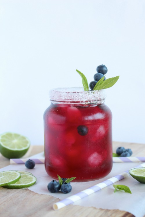 Blueberry, Mint and Lime Iced Tea | Better with Cake