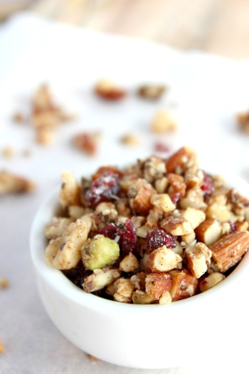 Dark Chocolate Cranberry, Coco-nutty Fruit and Nut Clusters