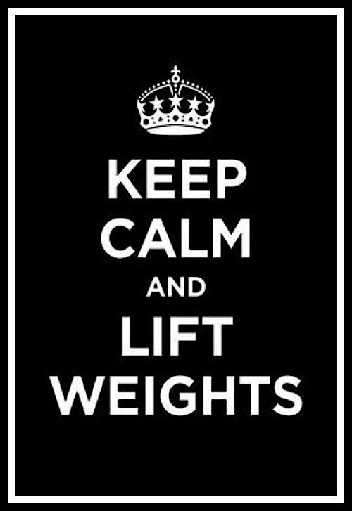 Keep calm and lift weights - www.betterwithcake.com