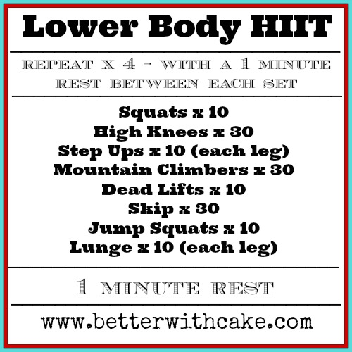 Fit Friday Fun Lower Body HIIT