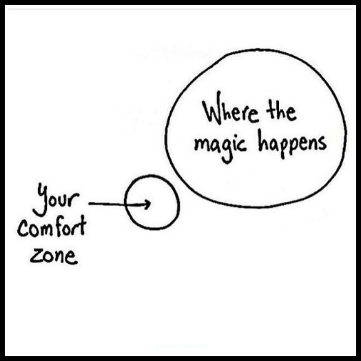 Magic happens outside your comfort zone - www.bettwithcake.com