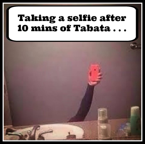 Selfie after Tabata #thestruggleisreal - www.betterwithcake.com