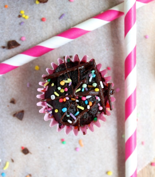 Serectly Healthy Double Chocolate Cupcakes - Dairy Free & Paleo Friendly - www.betterwithcake.com