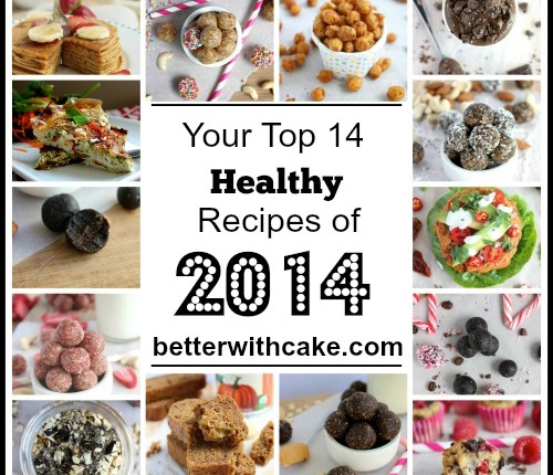 Top 14 Healthy Recipes of 2014 - www.betterwithcake.com
