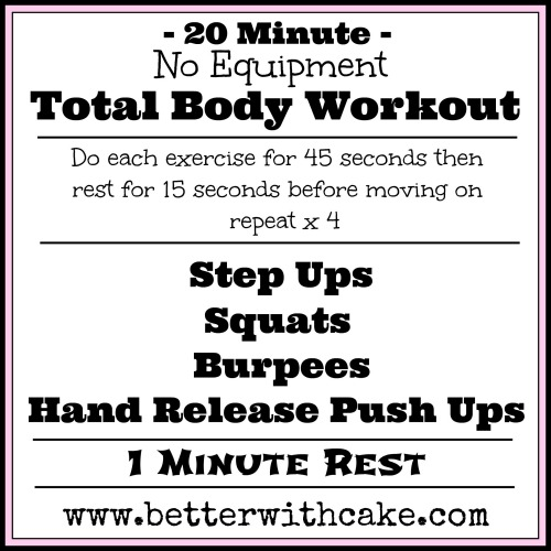 A 20 Minute {No Equipment} Total Body Workout & A Bonus
